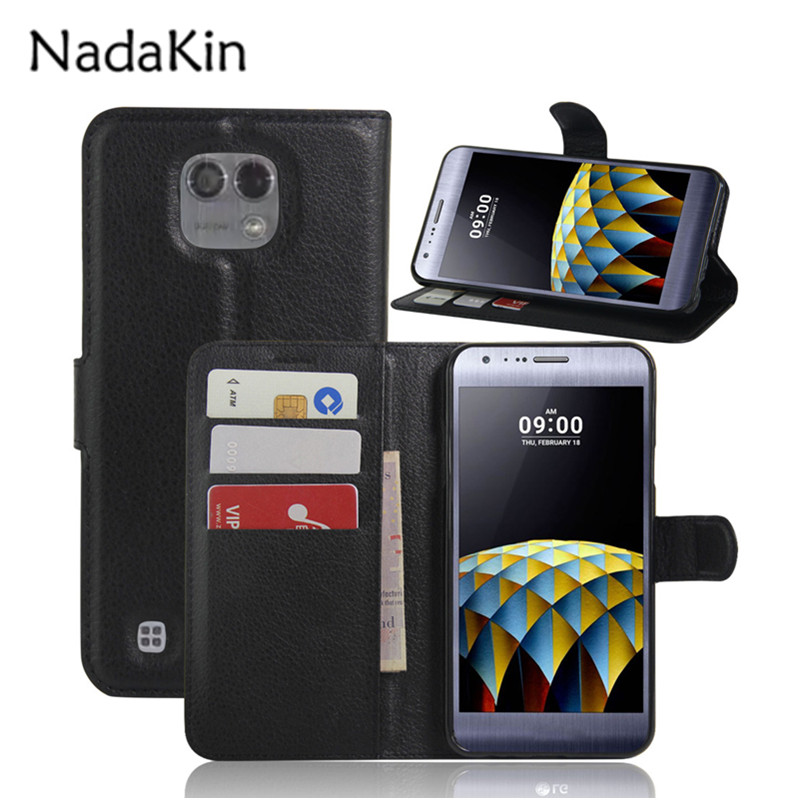 PU Leather Flip Wallet Case For LG X Cam High Quality Cover For LG X Cam / K580 K580DS With Stand Function and Card Holder
