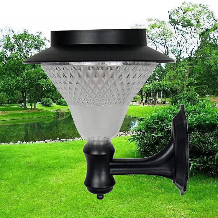New outdoor solar power wall lamp light 24led rainproof building new outdoor solar power wall lamp light 24led rainproof building wall gate fence lighting garden courtyard villa lamp 2 color in solar lamps from lights aloadofball Image collections