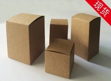 100PCS/LOT  80X80X80MM Kraft Paper Boxes Candy Packing Box