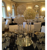 Diameter 20cm wedding decoration crystal ball Table centerpiece, crystal wedding centerpiece Flower Stand Free Shipping