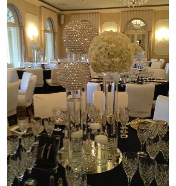 Diameter 20cm Wedding Decoration Crystal Ball Table
