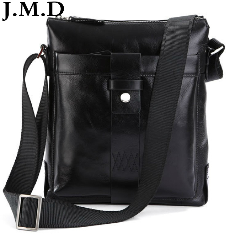 J.M.D 100% Guarantee Genuine Leather Popular European Style Mens Fashion Shoulder Messenger Bag Handbags 7151 2017 fashion european popular 100