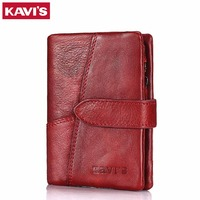 KAVIS Luxury Brand Wallet Female Coin Purse Genuine Leather Women Portomonee And Walet Rfid Pocket Perse For Lady Mini Vallet