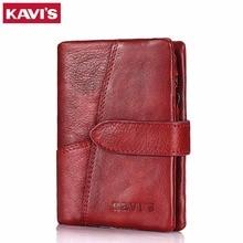 Кавис Элитный бренд кошелек женский кошелек натуральная кожа Для женщин portomonee и walet RFID карман Perse для леди мини-Валле