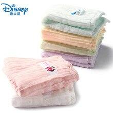Дисней Микки Маус Минни полотенце детское полотенце для лица новорожденный мультфильм мягкий хлопок квадратное полотенце мальчик девочка детский сад платок