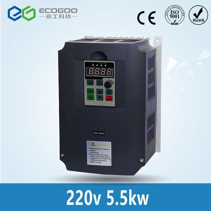 Konvertieren 220v einphasen-eingang zu 380v drei phase Ausgang 5.5kw VFD Variable Frequency Drive Inverter