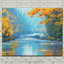 Hand painted Canvas Oil painting Wall Pictures for Living room wall decor art canvas painting palette knife landscape painting 3 hand painted canvas oil painting wall pictures for living room wall decor art canvas painting palette knife landscape 50