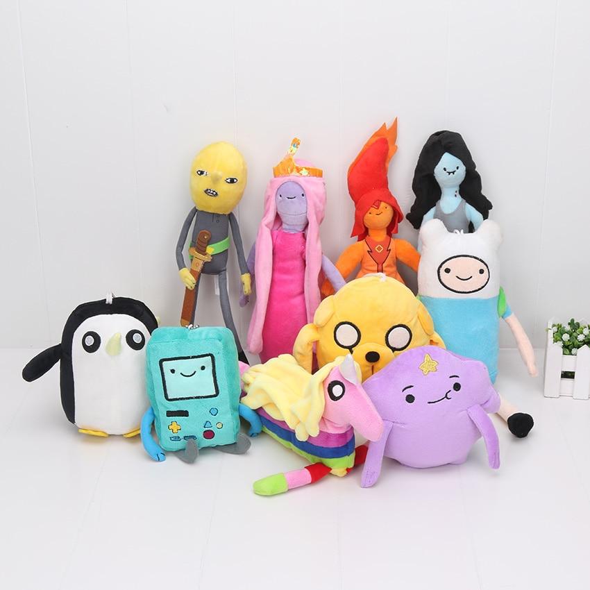 10styles Adventure time Plush Toys Jake Finn Beemo BMO Penguin Gunter Stuffed Animals Plush Dolls Soft Toys