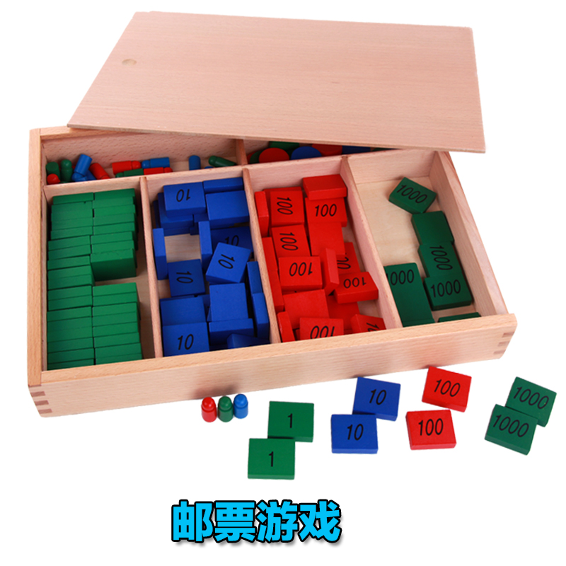 Candice Guo Wooden Toy Montessori Early Digital Learning Arithmetic Math Wood Puzzle Stamp Game Number Baby Birthday Gift 1set