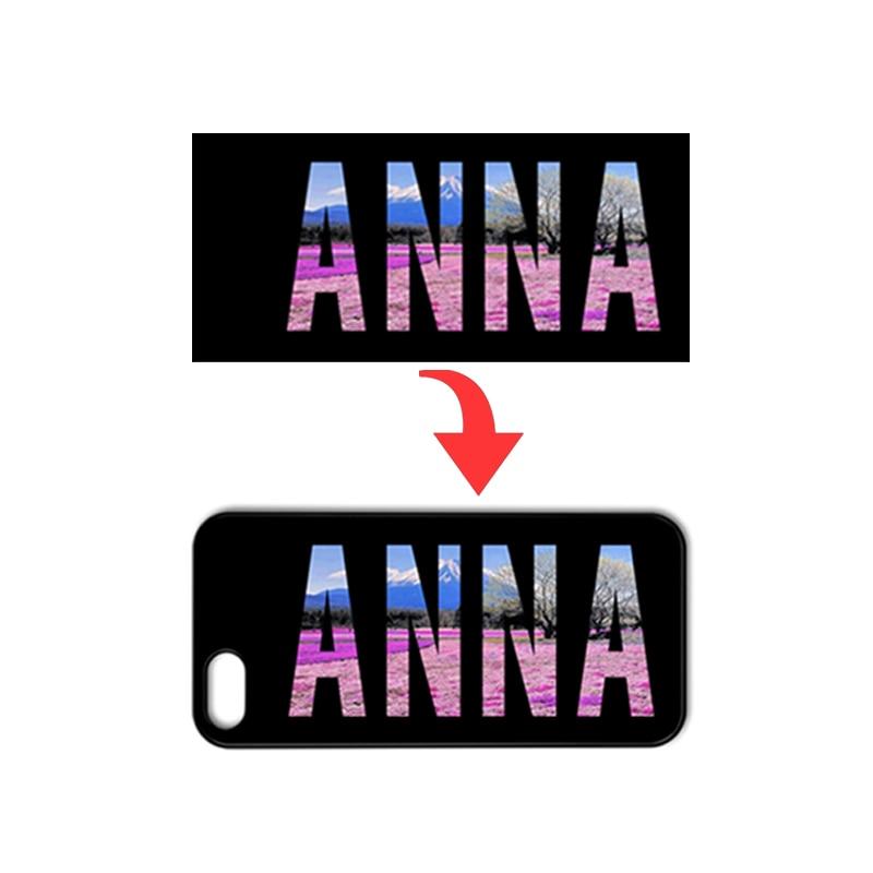 DIY Custom Name ANNA Cover Case for Samsung Galaxy A3 A5 A7 J1 J5 J7 2016 Prime Core Prime Grand Prime Grand Neo