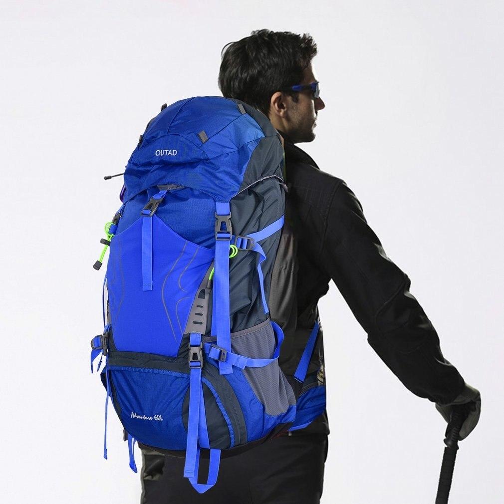 OUTAD extérieur 60 + 5L sac à dos étanche alpinisme escalade sac Camping randonnée sacs à dos Sport sac à dos grande capacité