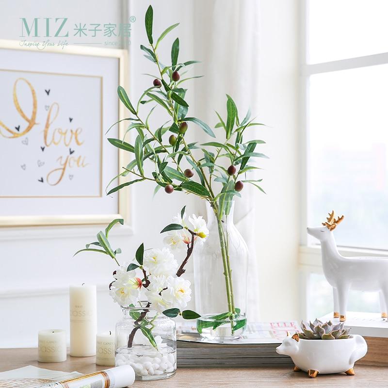 Miz 1 set artificial flower set include vase home for Artificial plants for interior decoration