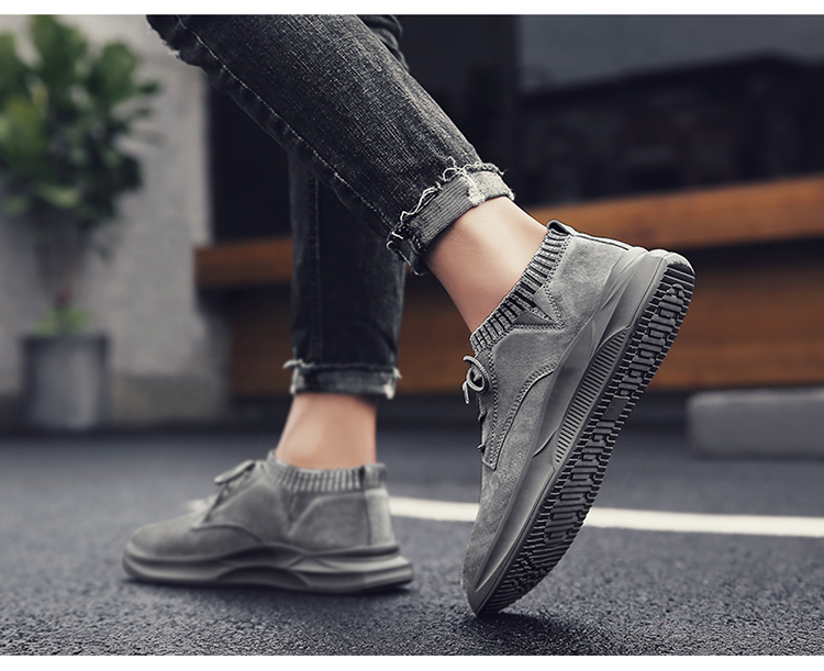 Casual Genuine Leather Suede Sneakers Unisex 10