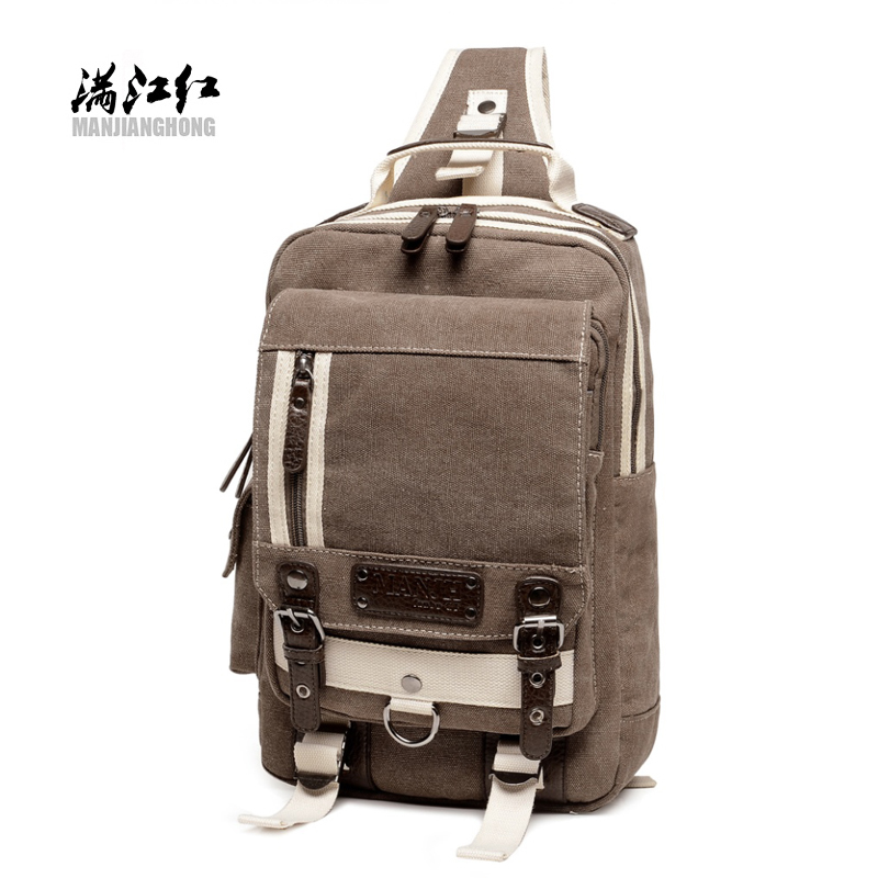 New Canvas Shoulder Bags For Men Chest Pack Large Casual Women Messenger Crossbody Multi-functional Sling Bag Bolsa Feminina