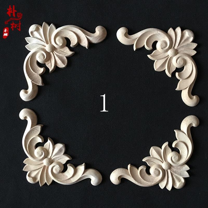 Moda esquina de madera flor moda apliques de madera esquina flor - Mueble - foto 5