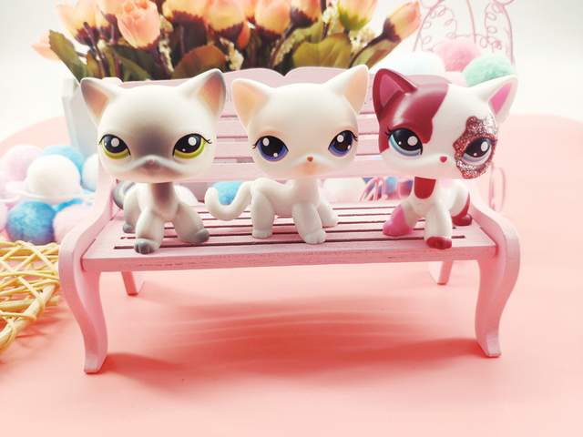 LPS Pet Shop Cute Short Hair Cat Toys Great Dane Collie Dogs PVC Action Stand Figure Toys Cosplay Dolls Model Toy Gifts For Kids 1