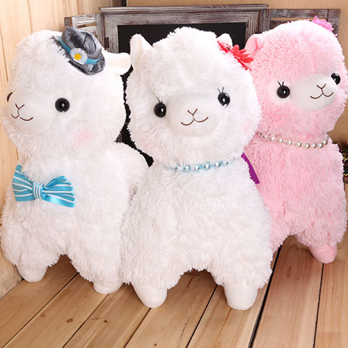 45CM Soft Sheep Pillow Kids Dolls Giant Alpaca Plush Toy Llama Alpacasso Stuffed