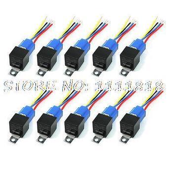 40A 24В проводка постоянного тока керамическая розетка Автомобильная стерео сигнализация SPDT NC + без реле 10 шт