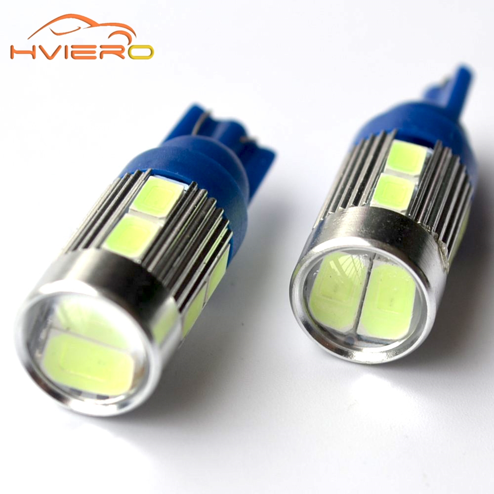 2Pcs T10 5630 White Red Blue Green 10 smd W5w Auto Car Led 194 168 DC 12v Interior Parking Projector Lens Tail Lights Wedge Lamp flytop 2 x w5w 10smd canbus t10 5630 smd 194 led car bulbs error free can bus auto lights white blue crystal blue yellow red