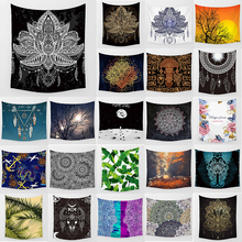 Unicorn tapestry mandala lotus feather boho style  wall hanging home decoration large rectangle bedroom