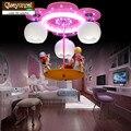 Qiseyuncai 2018 новая детская комната карусель Светодиодная потолочная лампа креативная мода мультфильм принцесса девушка освещение комнаты