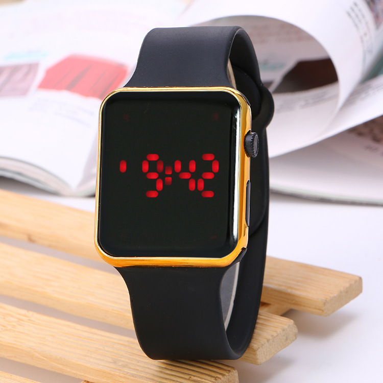 Мужские часы Топ бренд класса люкс силиконовые цифровые повседневные