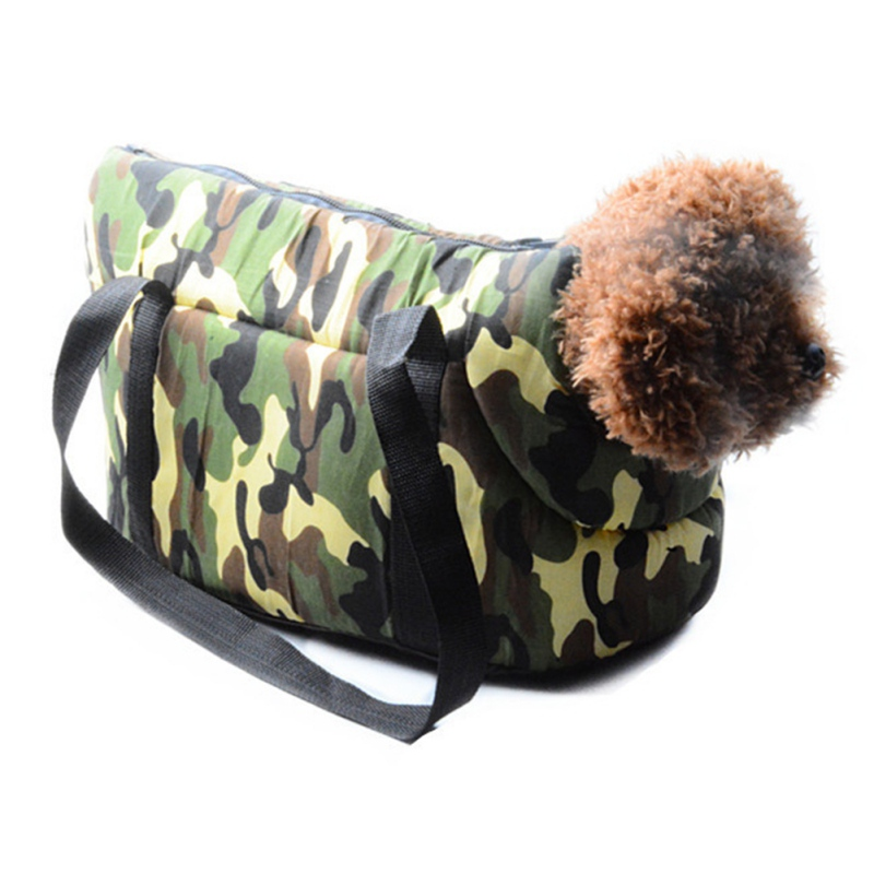 Small Dog Cats Puppy Carrier Pet Supplies S/L Breathable Canvas Camouflage Dog Carriers Outdoor Travel Bag