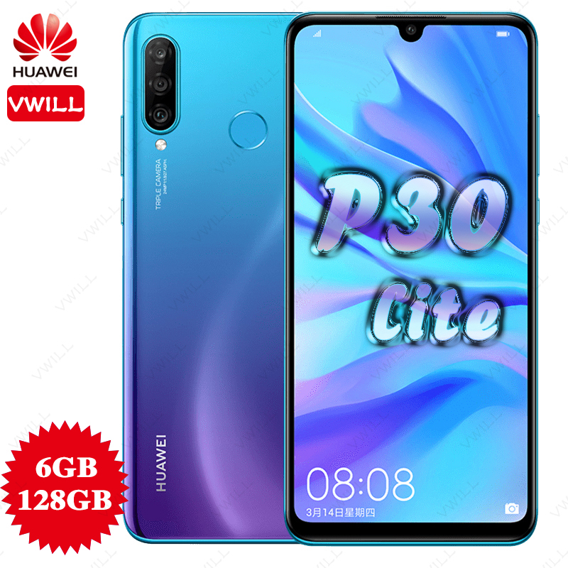 Global Version Huawei P30 Lite 6GB 128GB Mobile phone Kirin 710 Octa Core 6.15 inch Android 9.0 Fingerprint ID 3340mAh(China)