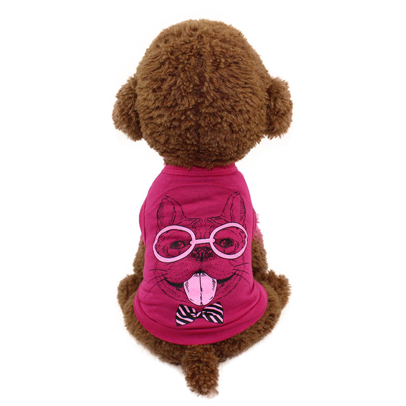 Spring/Summer Cartoon Pet Dog Vest T-Shirt Fashion Dog Shirt XS-L Pet Clothes For Dogs Cats Puppy Dog Clothes Wholesale 40JA4