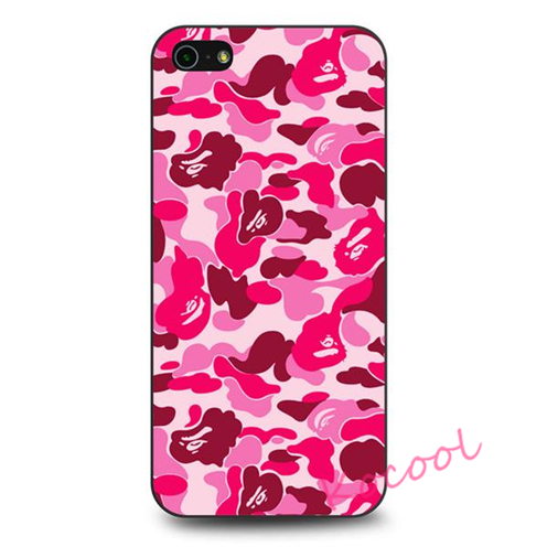 Bathing Ape Bape Pink Camo Case cover for iphone 4 4S 5 5S 5C SE 6 6 plus 6s 6s plus 7 7 plus #BN316