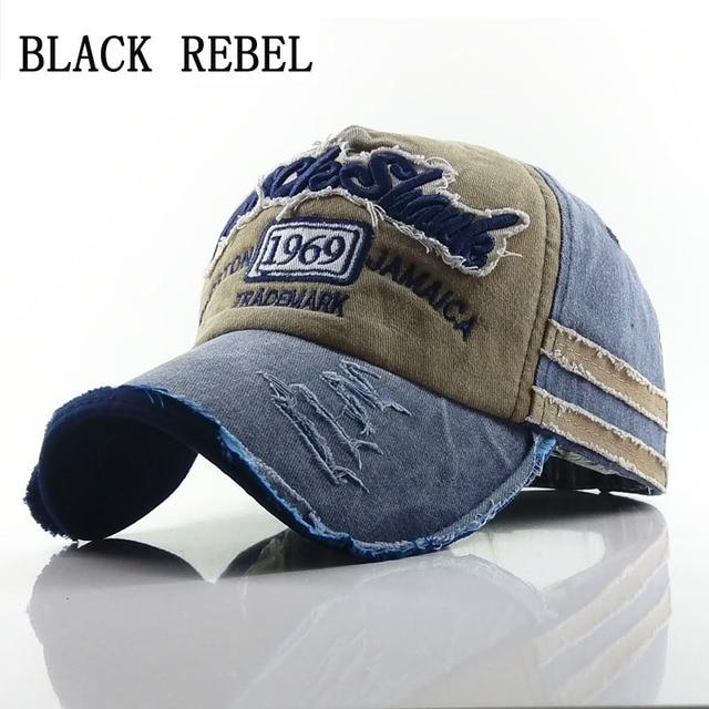 c802349f1cf46 Negro rebelde buena calidad marca gorra para hombres y mujeres Gorras  Snapback Gorras de béisbol gorra