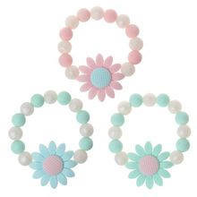 Baby Nursing Bracelets Sunflower Teether Silicone Chew Beads Teething Rattles To