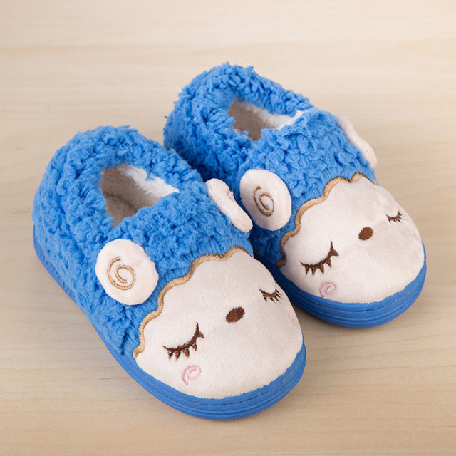 2016 Lovely Cartoon Baby Shoes Winter Children Slippers Warm Cotton Shoes Boys Girls Shoes Comfortable Soft Plush Home Slippers