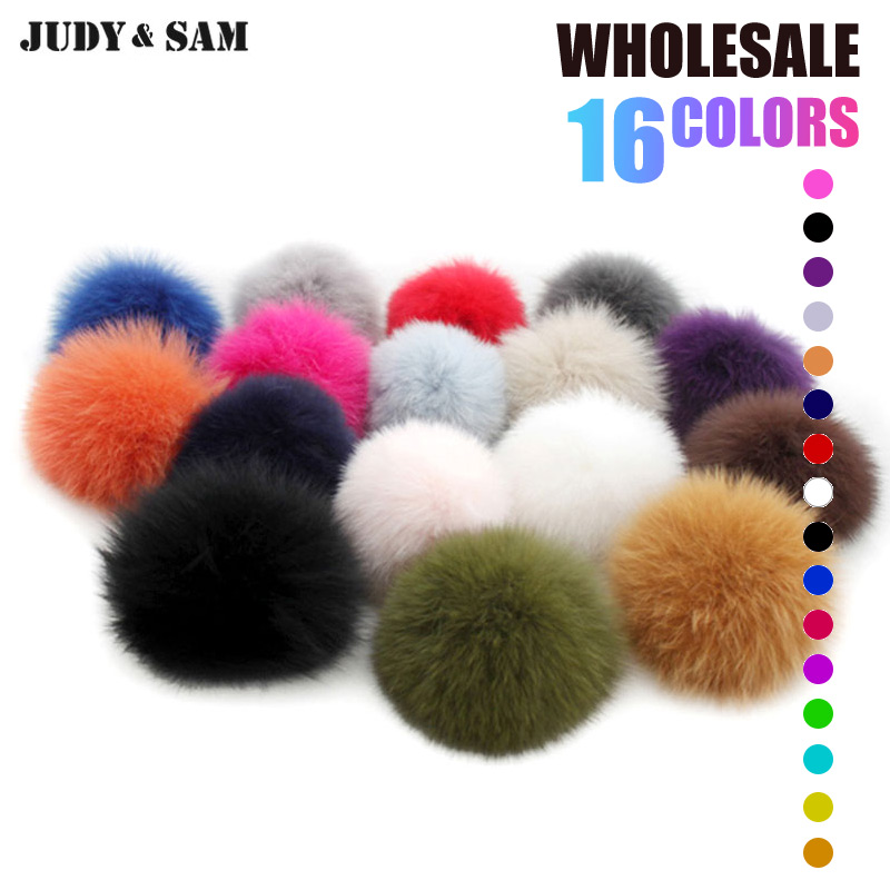 Wholesale 10Pcs/Lot Real Fox Fur Pompom Fur Hat With 12-13cm Fox Fur Ball Pom Pom Women Winter Hat And Cap Free Shipping women s winter hat new real mink fur pom fluffy ball hat cap fox fur ball mink fur fashion russian cap hat for women dhy17 20