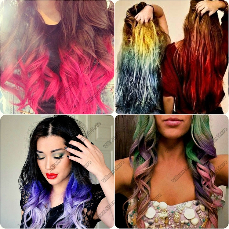 2015 Hot Selling 4 Colors/set Fashion Hot Fast Temporary Pastel Hair Dye  Color Disposable Hair Color DIY Change Hair Color In Hair Color From Beauty  ...