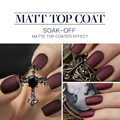 Modelones Hot Matte Top Coat UV Nail Gel Long Lasting Gel Polish Matt Matte Coat Nail Gel Polish DIY Nail Art Style Gel Top Coat