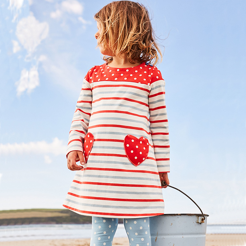 2017 Autumn Wunter Girl Dress Princess Cartoon Printed Infant Dress Casual Girls Clothes Birthday Party Kids Dresses For Girl fashion 2016 new autumn girls dress cartoon kids dresses long sleeve princess girl clothes for 2 7y children party striped dress