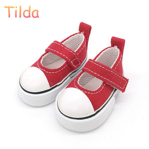 Tilda 5.5cm Canvas Sneakers For Dolls Paola Reina Minifee Corolle,New Toy Bjd Doll Sports Shoes for EXO KPOP Cloth Stuffed Dolls(China)