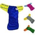 JinoBaby Aio Pañal de Tela, Hit Fashion Color Fuerte Capacidad de Absorción De Bambú Pañal Ajustes para Recién Nacidos hasta $ number libras