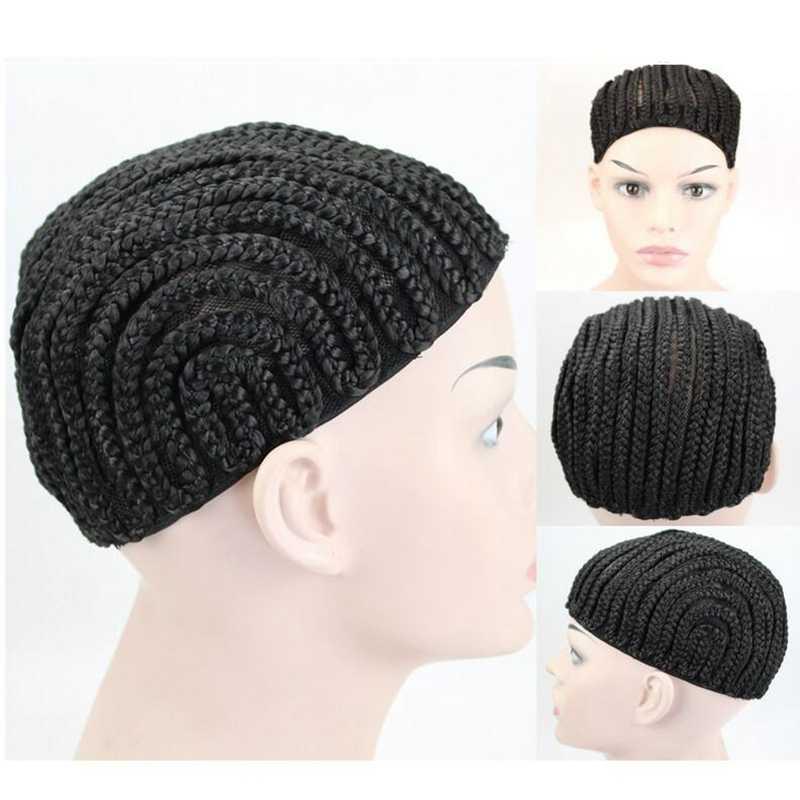 1 шт. черная супер эластичная шапка из косичек для плетения вязания крючком оплетка парик шапки s для изготовления париков высокое качество ткачество вязаная шапка парик сеть