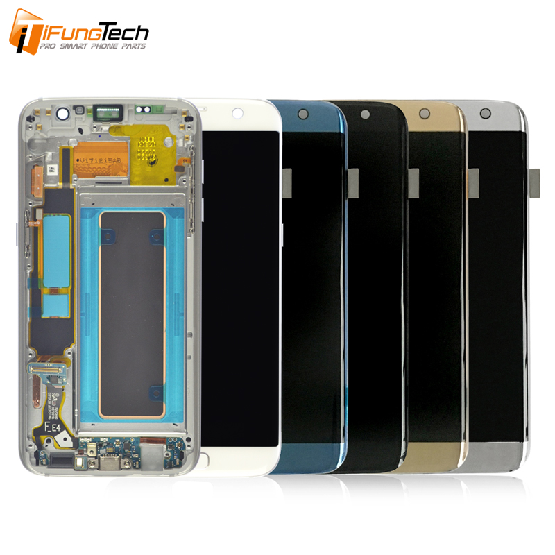 ORIGINAL 5.5'' SUPER AMOLED Display For SAMSUNG Galaxy s7 edge G935 G935F SM-G935F LCD Digitizer Assembly Replacement + Frame image