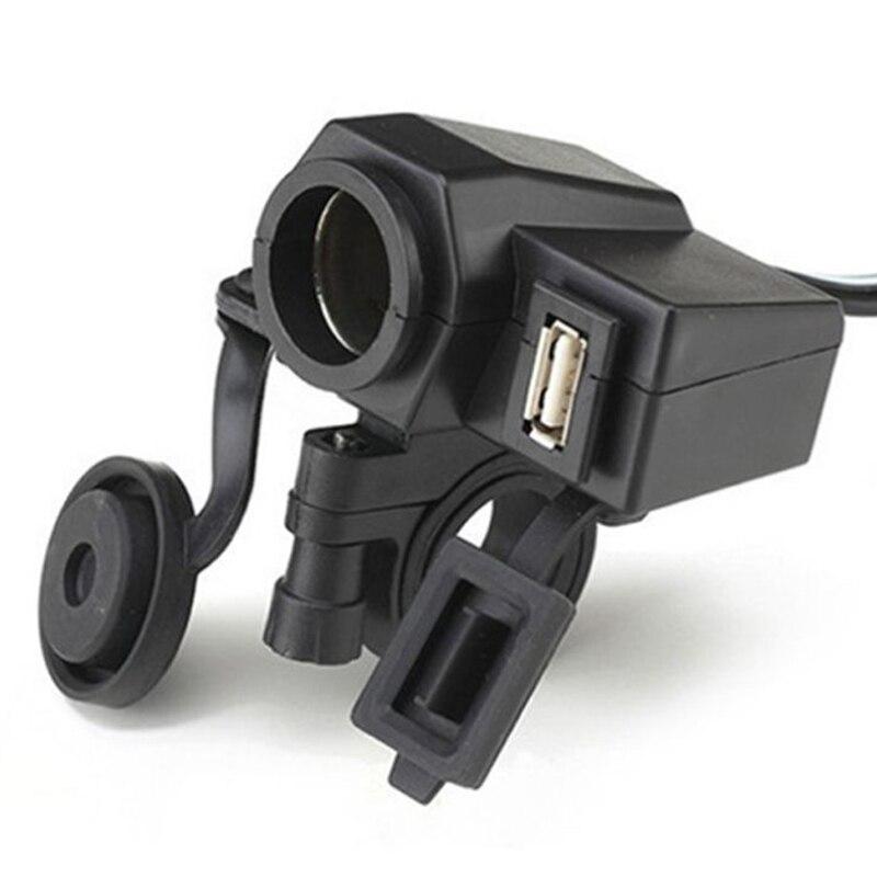 New Waterproof power socket usb for motorcycle Motorbike 12 V Cigarette Lighter 5V USB Power Port Adaptor Outlet Charger