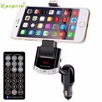 Otomatik Kablosuz Bluetooth LCD MP3 Çalar Araç Kiti SD MMC USB FM Verici Modülatör Dec12