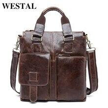 WESTAL сумка мужская натуральная кожа мужская сумка через плечо сумки мужские портфель клатч сумочка сумки на ремне дорожная сумка  мужские сумки портфель мужской деловой кожаные портфели 8259
