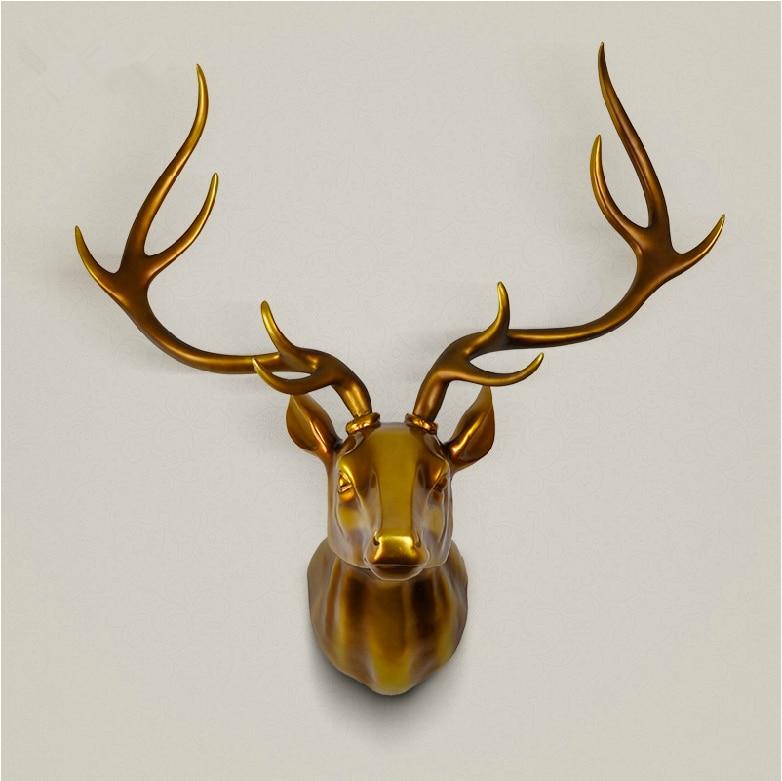 Regalo de la navidad suerte cabeza de ciervo animal del arte del sal n pared decoraci n del - Cabeza de ciervo decoracion ...