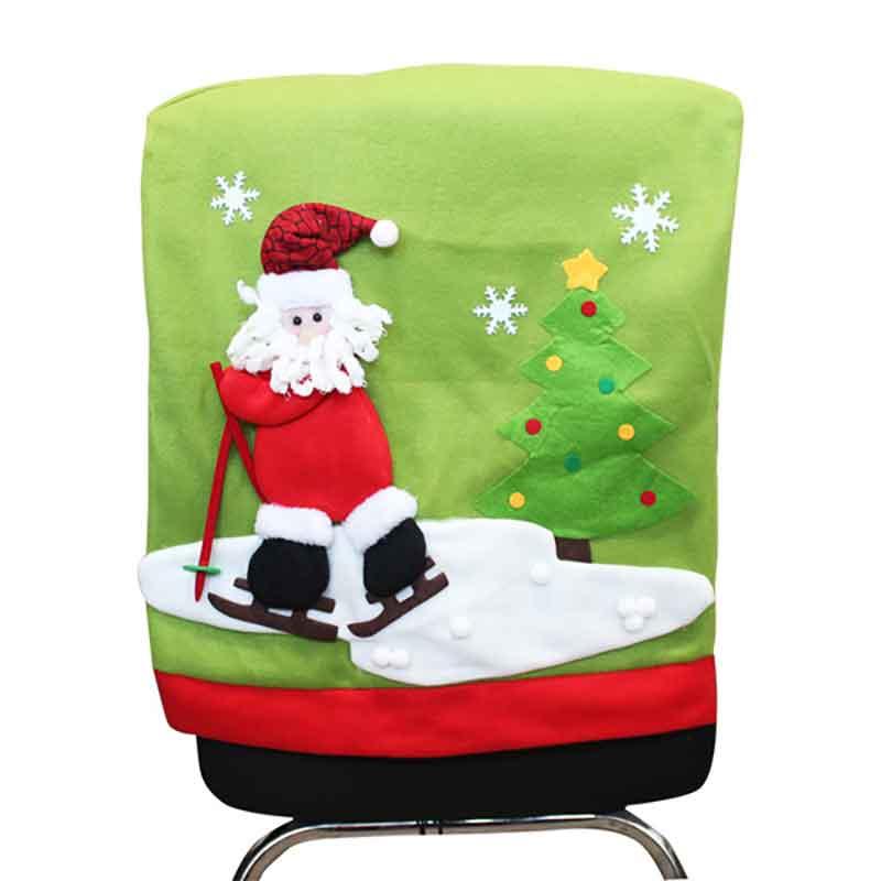 New Year Christmas Chair Back Cover Decoration Santa Clause Red Hat Dinner Table Decor Chair Navidad Decoraciones Para El Hogar