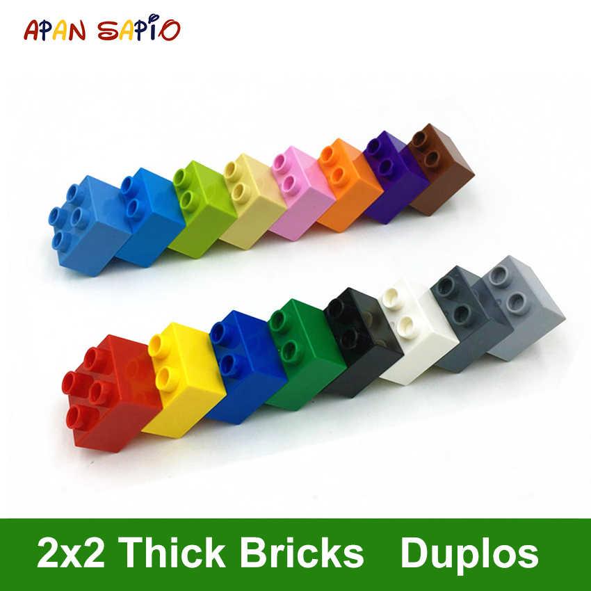 DIY строительные блоки толстые фигурки кирпичи 2X2Dot 14 шт. в упаковке Обучающие
