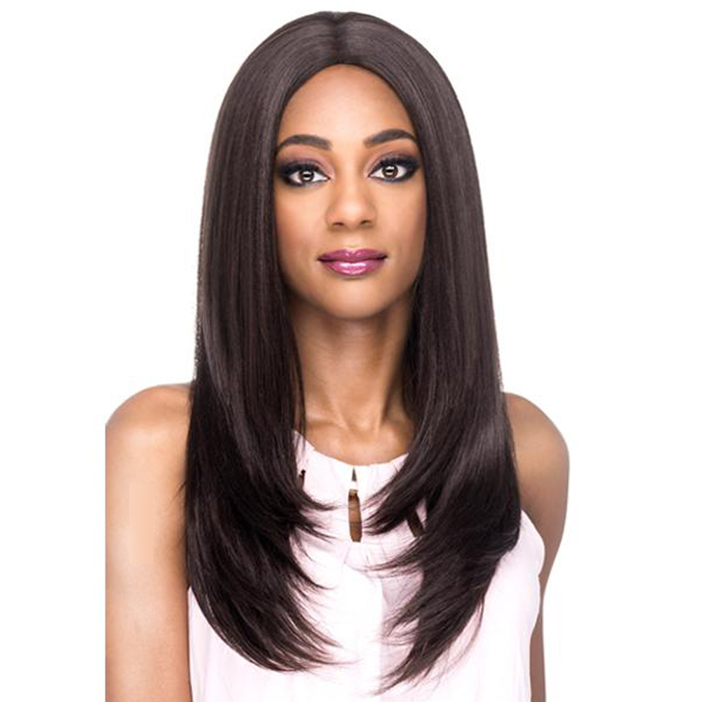 Amir Natural black straight Full wigs for black women synthetic hair 22 inch long bob wig cosplay wig