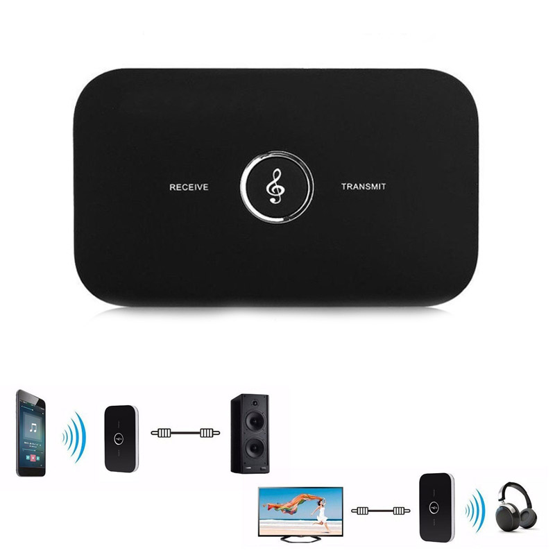 Bluetooth 4.1 Transmitter Receiver Portable 2-in-1 Wireless 3.5mm Audio Adapter for Home Car Sound Headphones TV PC CX8 @JH