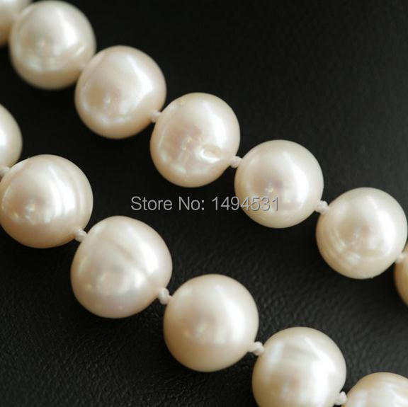 Natural Pearls Necklace 925 Silver Flower Clasp Czech Dia  Mond Long Necklace Women's Pearl Jewelry Top Quality Girl's Best Gift-in Choker Necklaces from Jewelry & Accessories    3